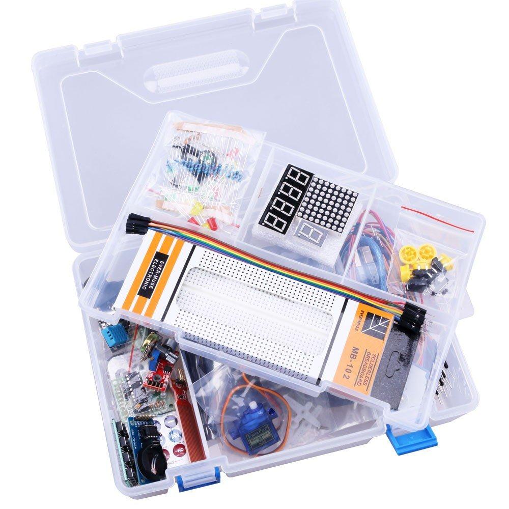 RoboGets Arduino Uno R3 Starter Kit with All Sensors & Plastic Box for Robotics & Electronics