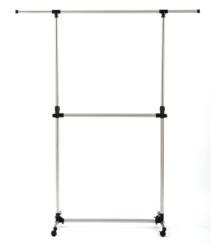 SUNPACE Rolling Garment Rack Cheap Small SUN002 Steel Hanging Black Garment Storage Rack Feishang Houseware