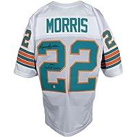 $109 » Mercury Morris Signed Custom White Pro Style Jersey 1972 Perfect Season BAS ITP