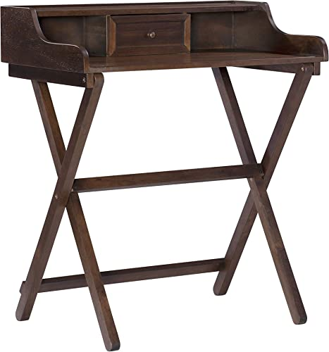 Linon Home Decor Products Linon Walnut Folding Griffin Desk - the best modern office desk for the money