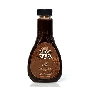 ChocZero's Chocolate Sugar-Free Syrup. Low Carb (1 Gram Net Carb), No Sugar, No Preservatives, No Sugar Alcohols. Thick and Rich Sauce