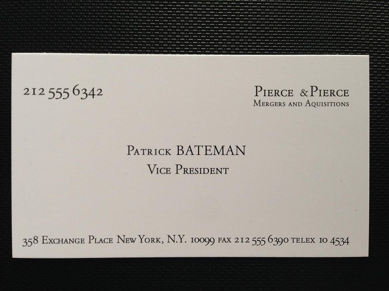 American psycho Patrick bateman Business card framed Replica: Amazon ...