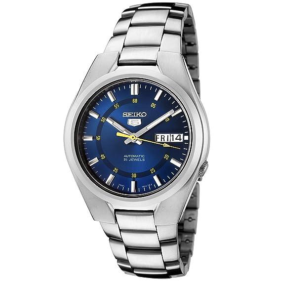 Amazon.com: Seiko - Reloj automático de acero ...