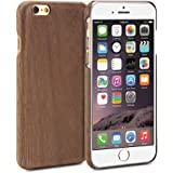 iPhone 6 Case, GMYLE Natural Genuine Wooden Case for iPhone 6 / 6s - Deep Walnut Ultra Slim Hard Case