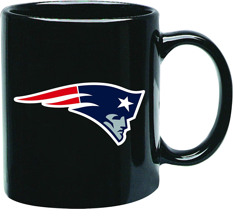 New England Patriots Nfl Offizielle Tasse Becher Kaffeetasse Black Glossy Groß 425 Ml Sport Freizeit