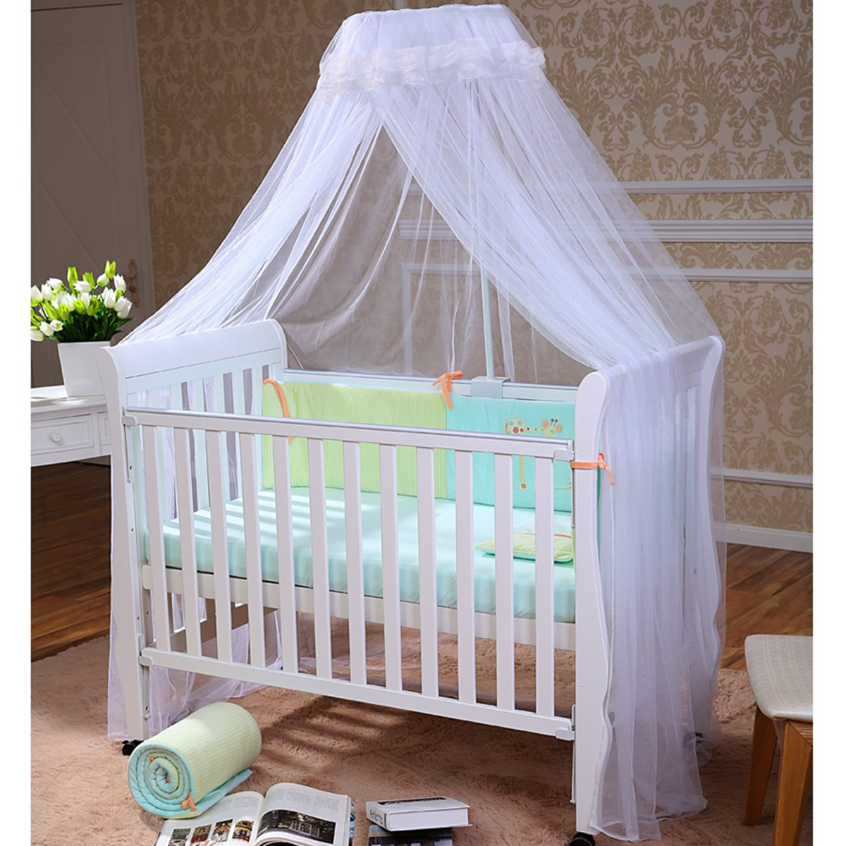 FOXNOVO Mosquito Net,Baby Canopy Bed Netting,High Quality by Foxnovo
