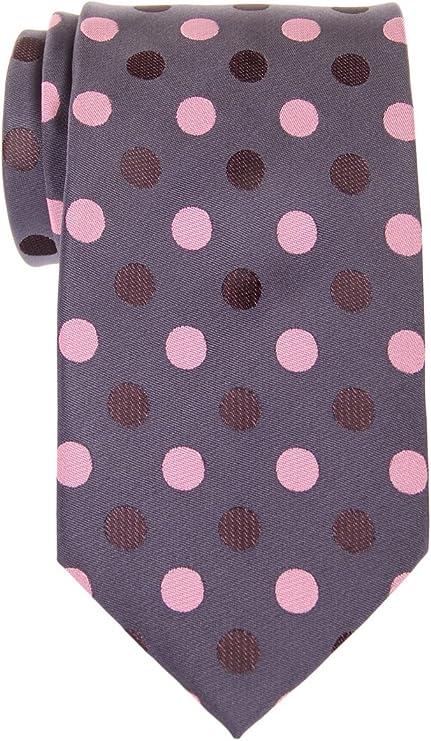 Retreez Corbata de microfibra con lunares bicolor para hombres