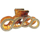 Tortoise Shell Brown Extra Sparkly 8cm Diamante Crystal Evening Hair Claw Clamp