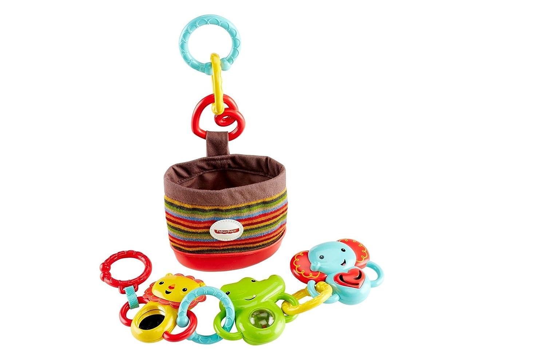 Fisher-Price Trío actividad de paseo, juguetes colgantes para bebé (Mattel DFP25)
