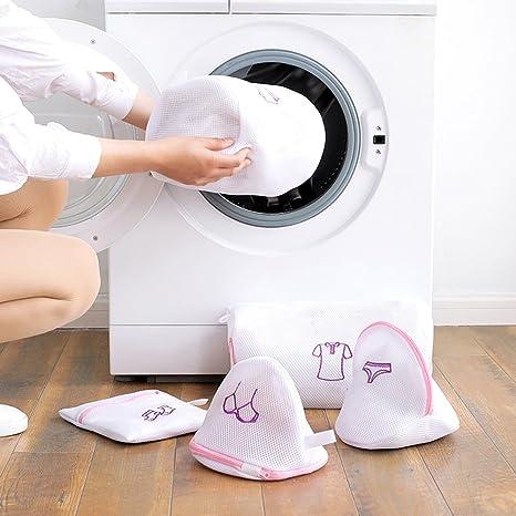 GUOYIHUA Bolsas de lavandería de malla con cremallera, plegables, para sujetador, ropa interior