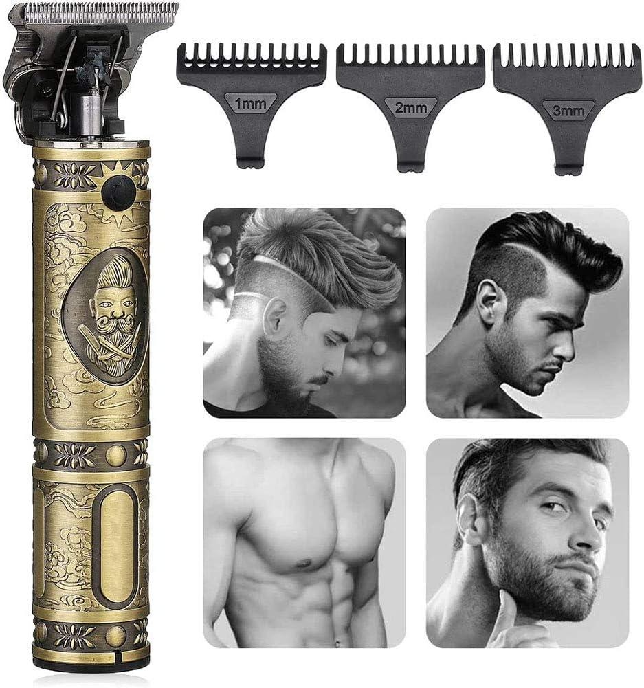 Cortapelos Profesional Hombre Barbero Electrico Recortador de Barba y Precisión Cortadora de Pelo Recargable