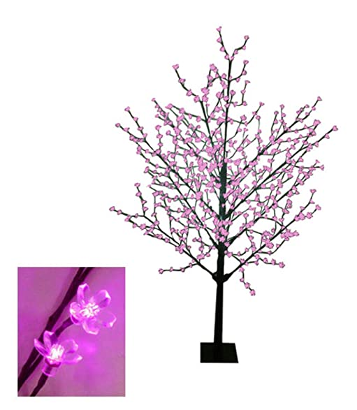 8 pre lit cherry blossom flower outdoor christmas tree decoration fuschia pink led - Led Outdoor Christmas Tree
