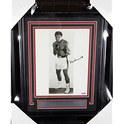 Signed Muhammad Ali Picture - Authentic Framed 8x10#H42099 - PSA/DNA ...