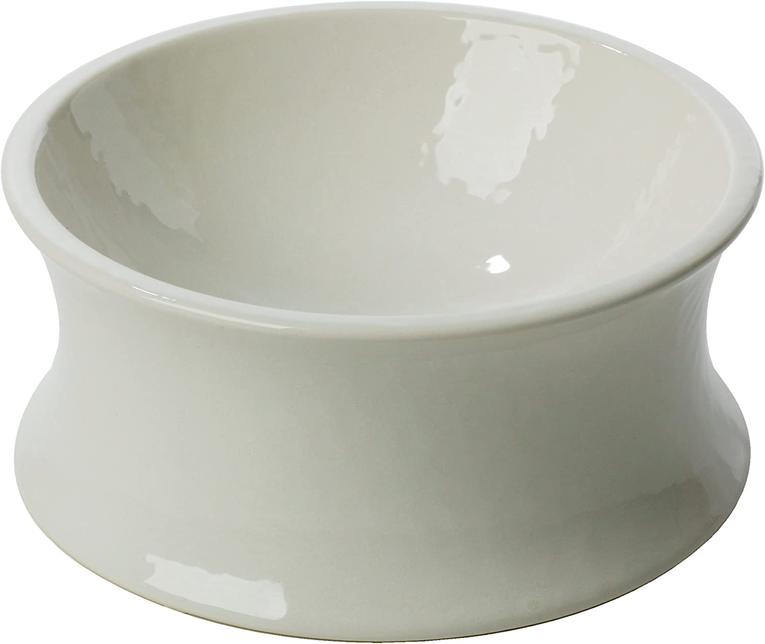 One for Pets The Kurve Raised Pet Bowl, Small, White