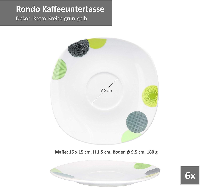6er Set Eierbecher Rondo rund Becher  5 cm Egg Cup abstrakte ...