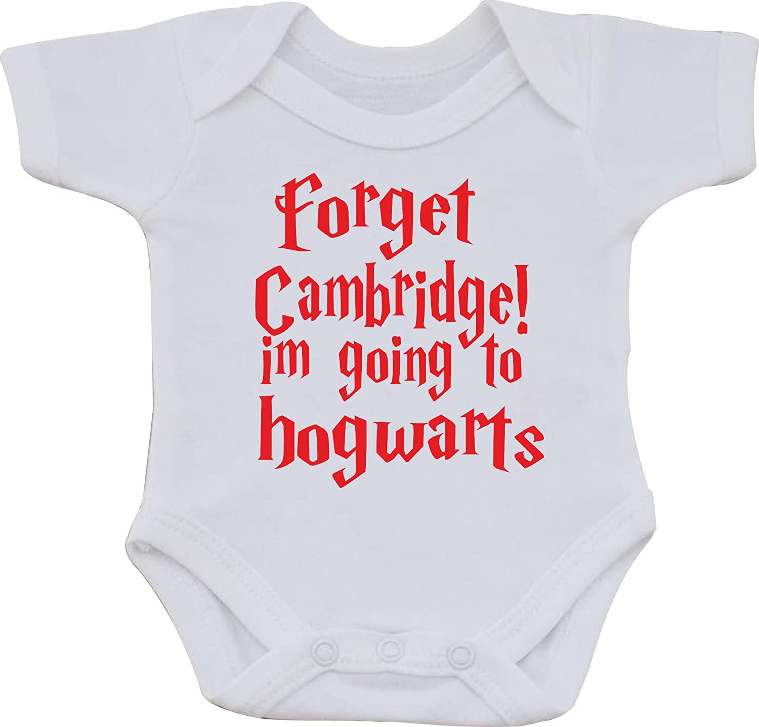 First Size bib Forget Cambridge IM Going to Hogwarts Funny Cotton White Baby Vest OR BIB