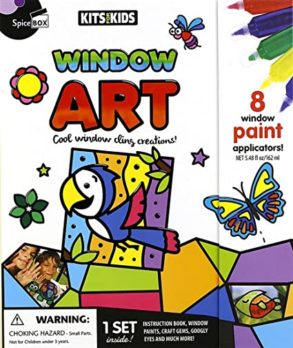 Children Arts and crafts kit Bugs paint and peel window stickers Kids