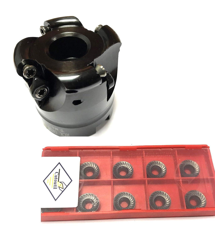 CNC Tête de coupe de qualité supérieure Ø 63 mm – Tête de fraisage R200-5R63-22-4T – avec 10 plaques réversibles. 10T3 CNC QUALITÄT