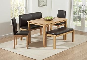 HGG-6-Set tavolo e panche da parete e tavolo, panchina e sedie per ...