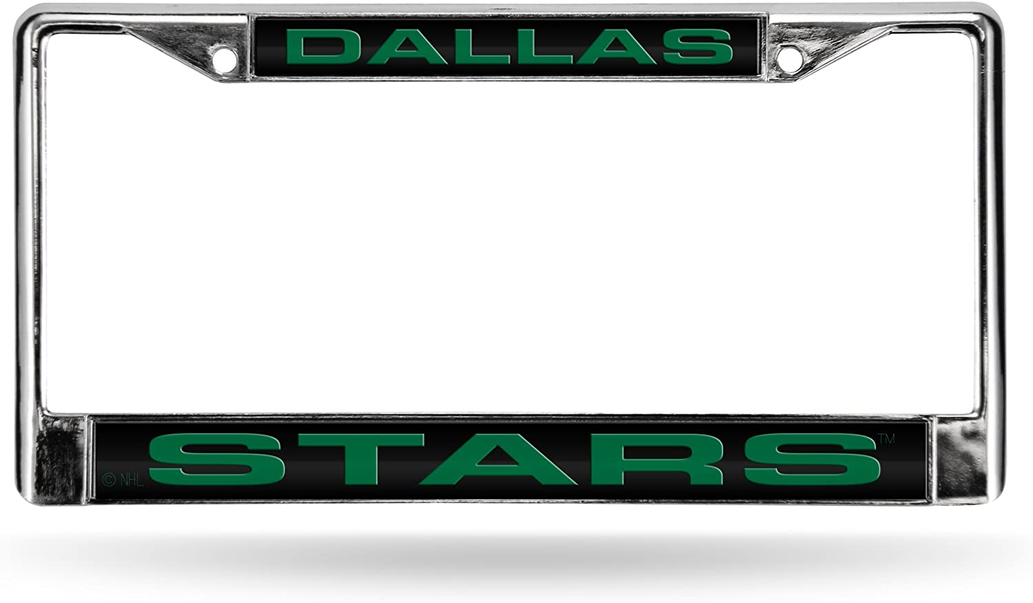 Dallas Stars NHL Rico Industries  Laser Cut Inlaid Standard Chrome License Plate Frame