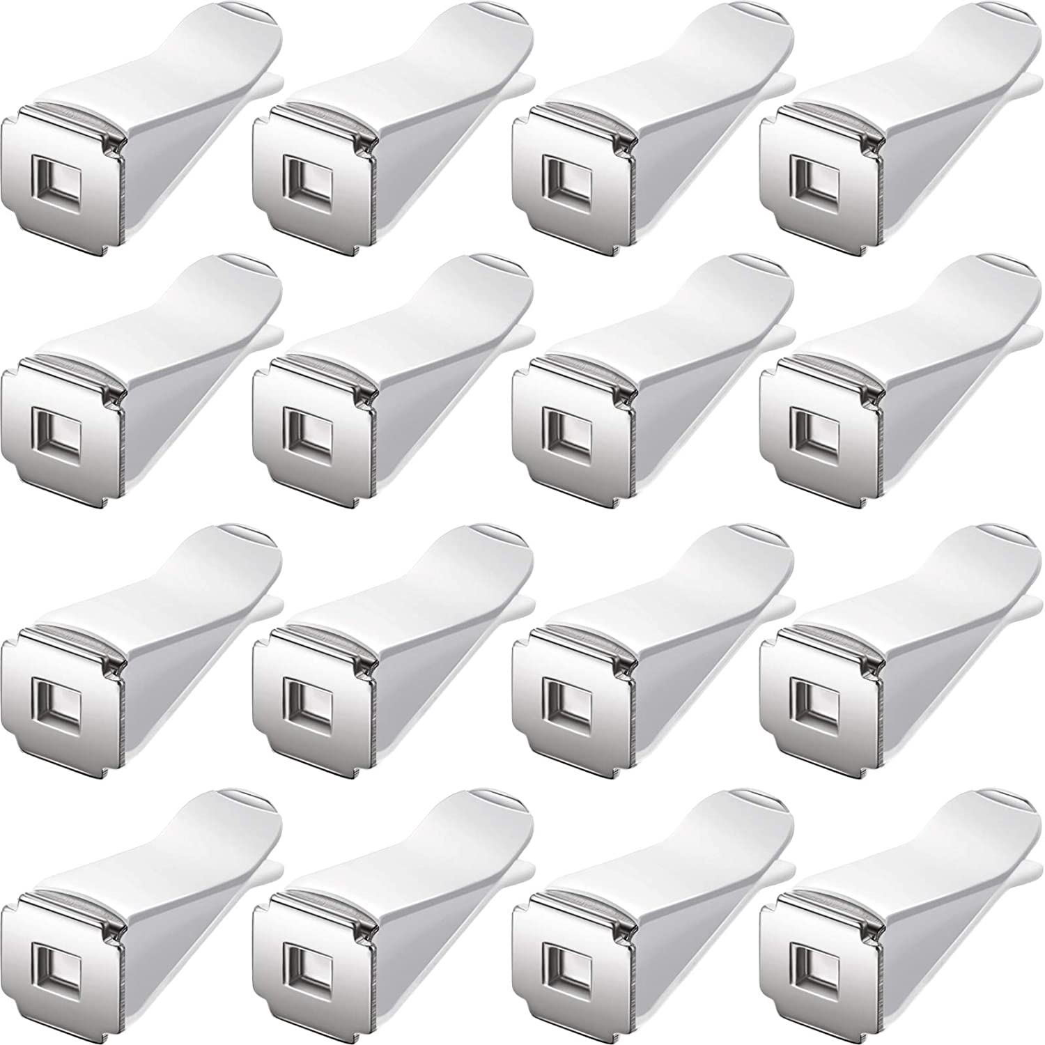 BBTO 40 Pieces Square Head Car Air Vent Clips for Auto Air Conditioner Outlet Clips Smell Remover Decor (White)