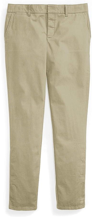 Amazon Com Tommy Hilfiger Pantalones De Chino Adaptables Para Mujer Elasticos Y Ajustables Botones Magneticos Clothing