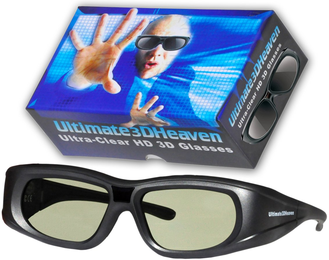 Ultra-Clear 3D Glasses Rechargeable for Panasonic 3D TV's 2011 & Prior (IR)