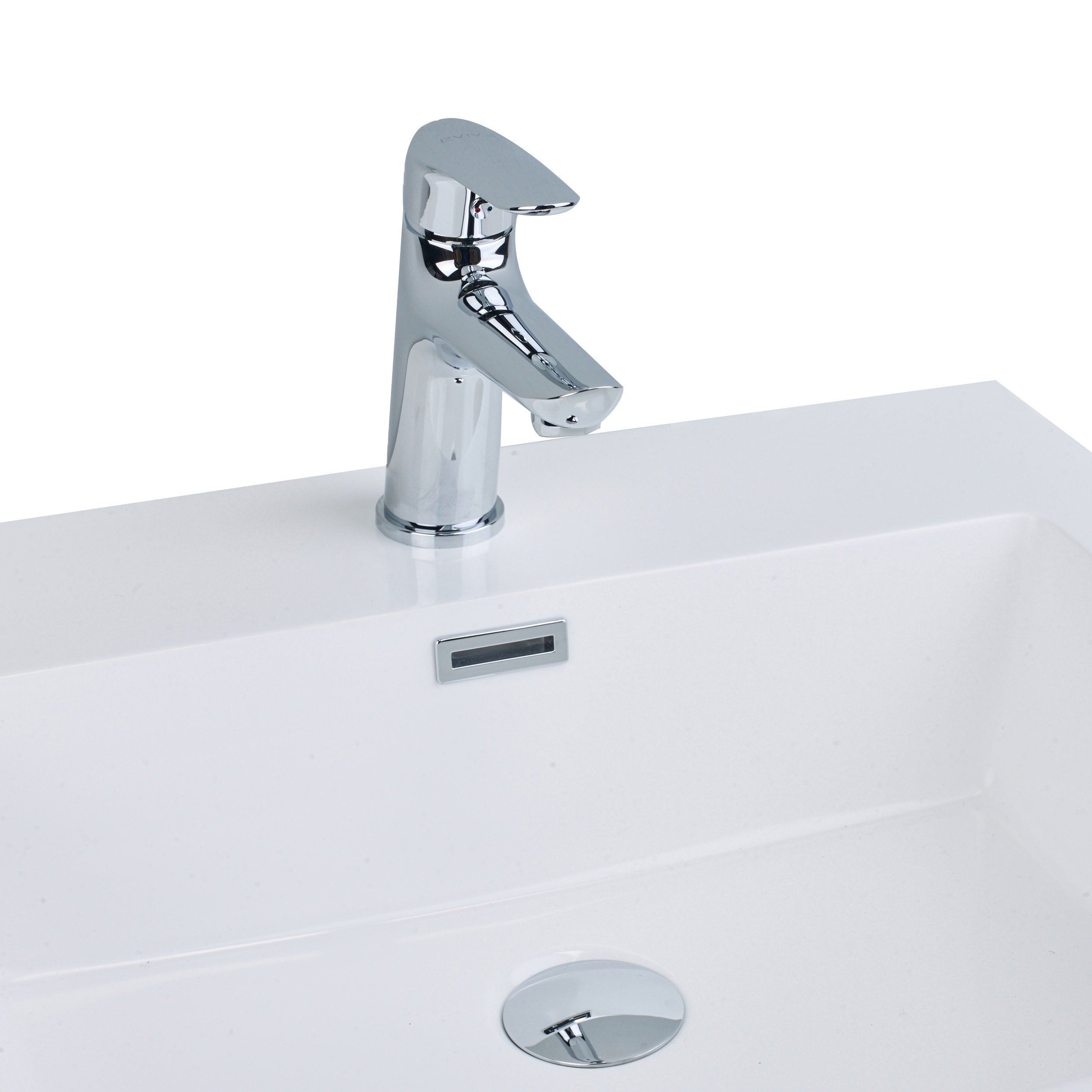 Eviva EVFT342CH Serin Single Handle Bathroom Sink Faucet with Lever, Chrome by Eviva