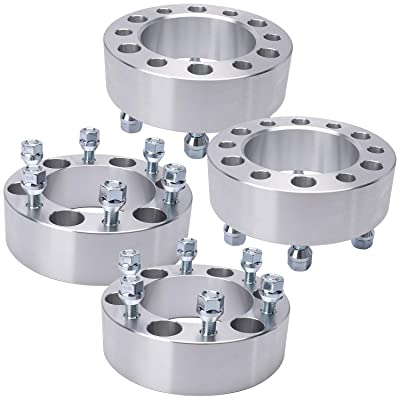IRONTEK 2 inch 6x5.5/6x139.7mm Wheel Spacers 12x1.5 Studs 6 Lug Wheel Spacer Adapters fit for Toyota Tacoma/4-Runner/FJ Cruiser, Mitsubishi Montero Sport, Isuzu, Mazda, Lexus GX470/LX450, GMC, Dodge: Automotive
