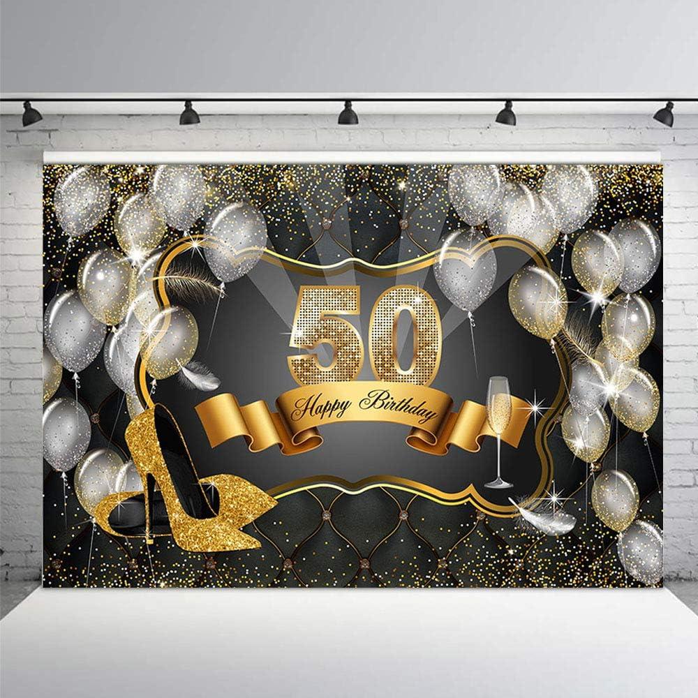 Mehofoto Fotostudio-Hintergrund f/ür Erwachsene Party Banner Hintergrund f/ür Fotografie Happy Birthday