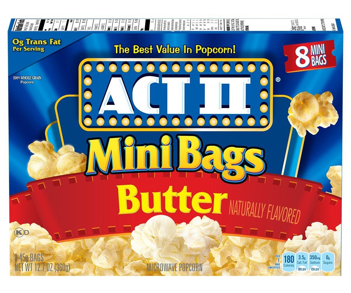 Act II Popcorn Butter, 8-Count 1.6 oz, Mini-Bags (Pack of 6)