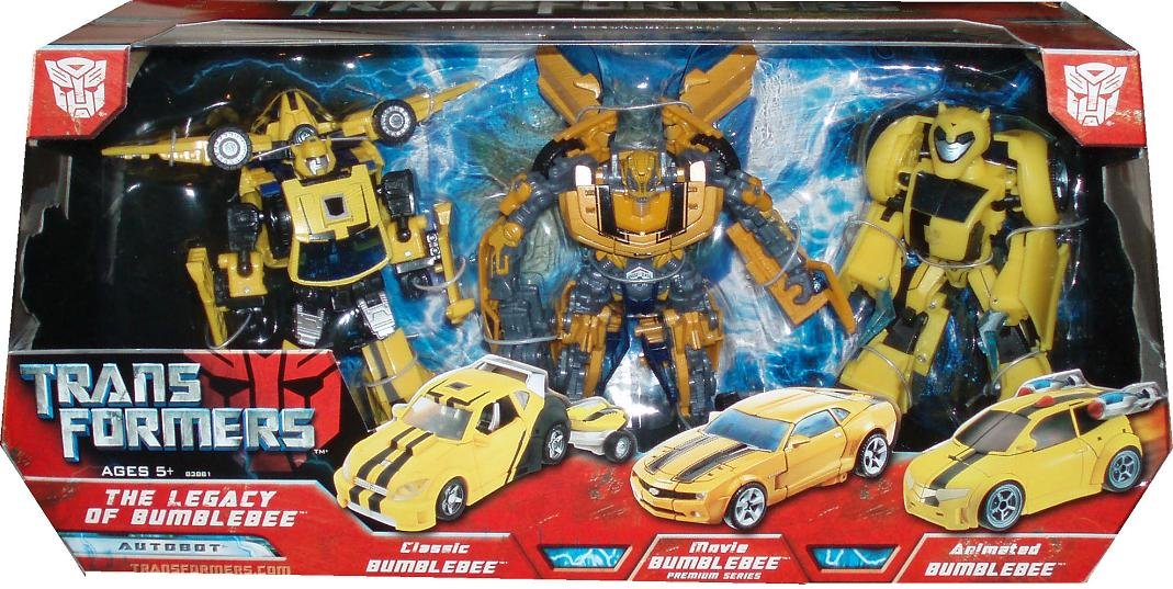 Classic, Movie and Animated Transformers Exclusive Deluxe Action Figure 3-Pack Legacy of Bumblebee