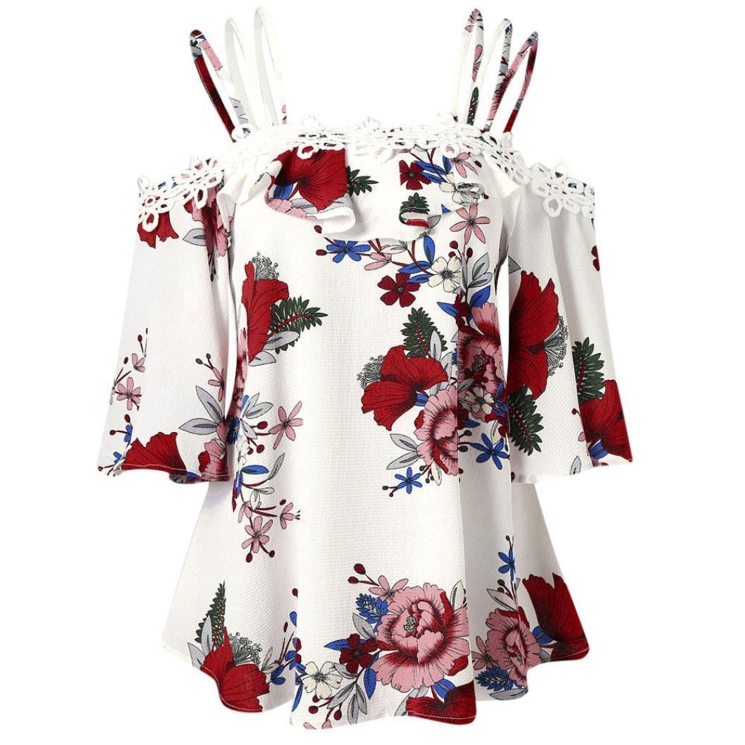 Kleidung & Accessoires Damen Übergröße Vintage Bluse Oberteil ...