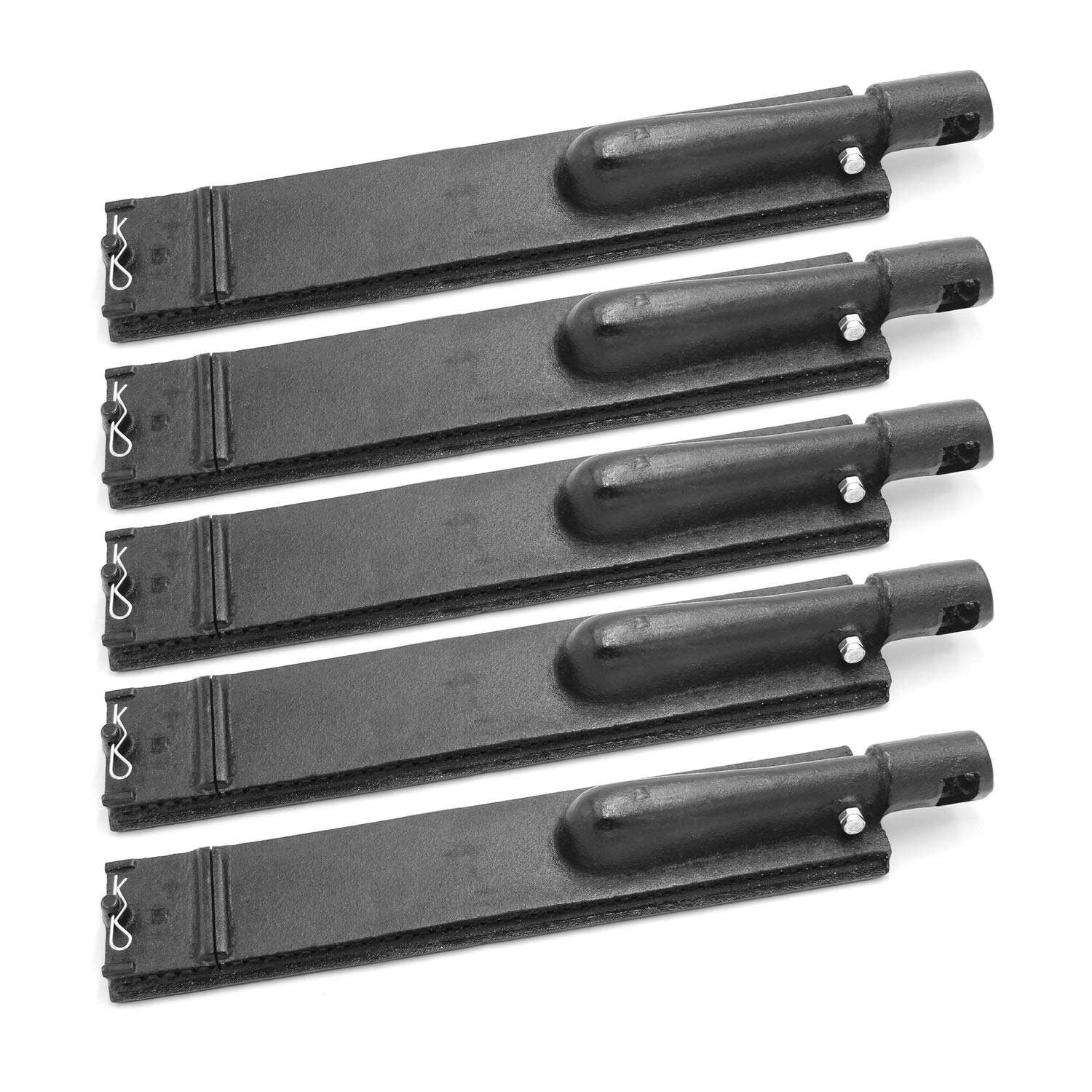 Hongso 15 3/4 Inches Cast Iron Gas Grill Burner Tube Kit Set Replacement Parts for Old Bull 4 Burner BBQ, Nexgrill 720-0026, 720-0057, 720-0058, 720-0145, Aussie, Bakers and Chefs, CBC301 (5-Pack)
