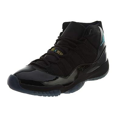 51da542462294 Nike Mens Air Jordan 11 Retro Black/Gamma Blue Leather Basketball Shoes  Size 11