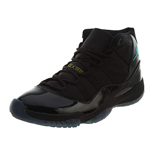 536f3e3a343 Amazon.com: Nike Mens Air Jordan 11 Retro Black/Gamma Blue Leather  Basketball Shoes Size 11: Clothing