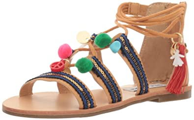 5766b72d3d9 Amazon.com   Steve Madden Kids' JCAILIN Gladiator Sandal   Sandals