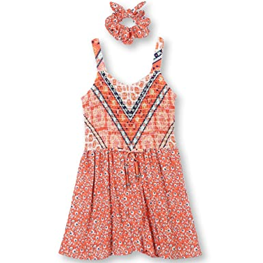 de30f2921a4 Amazon.com  Speechless Girls  Big Smocked Romper with Scrunchi  Clothing