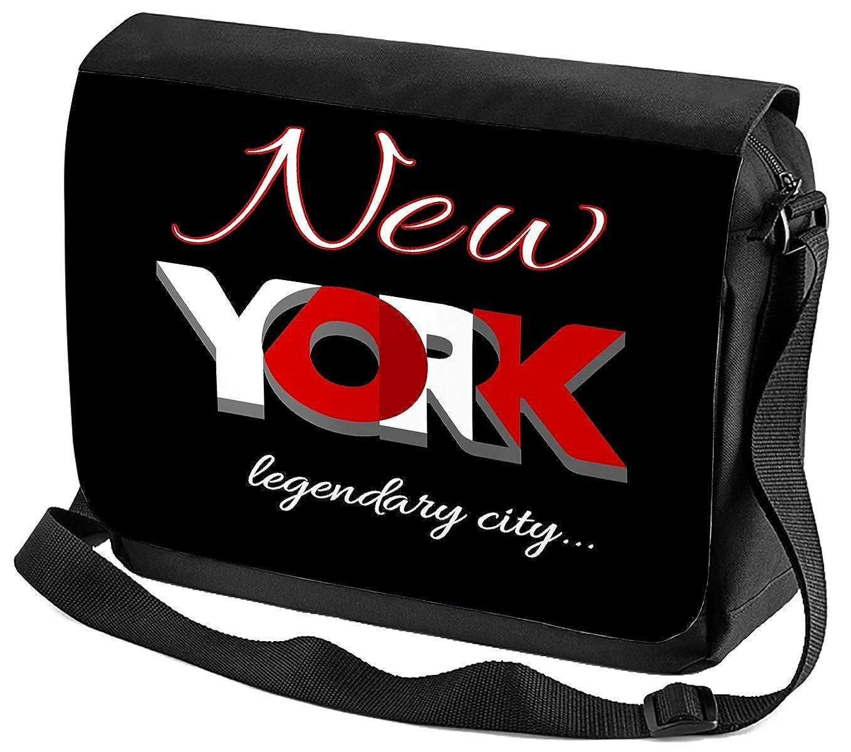 Borsa Tracolla Città New York Stampato: Amazon.it: Scarpe e