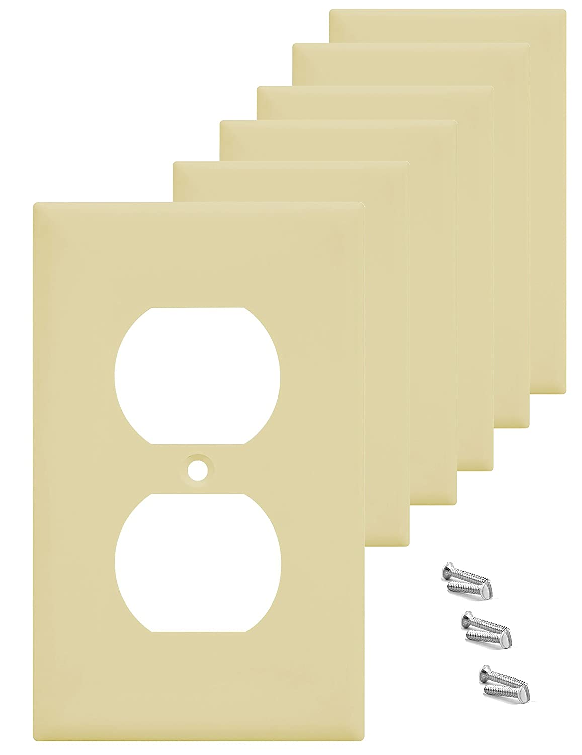 Pack of 6 Wall Plate Outlet Switch Covers by SleekLighting ...