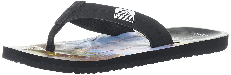 Reef Herren HT Prints Zehentrenner, Mehrfarbig (Aqua Palms Aqua), 44 EU