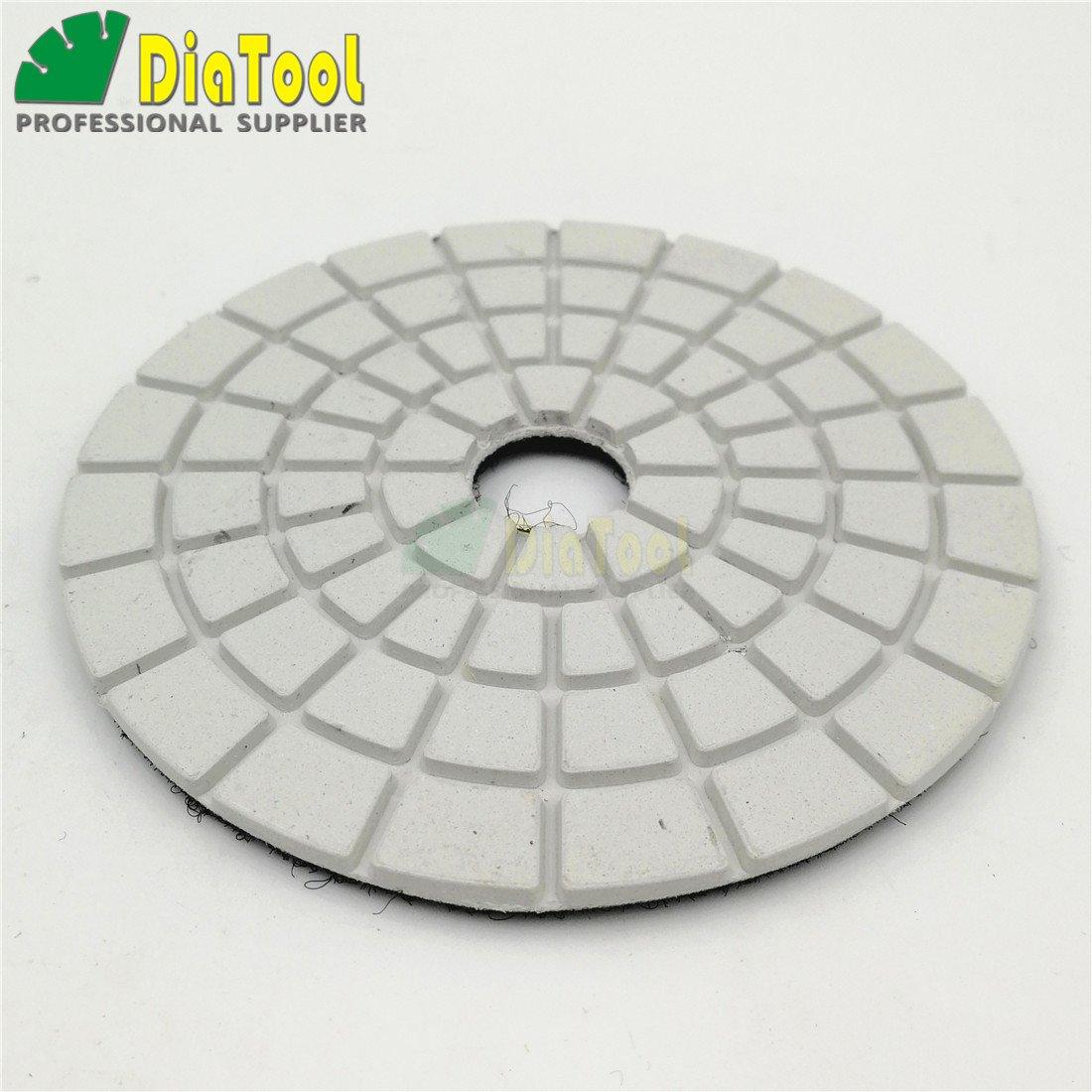 SHDIATOOL 7pcs//Set 4 Diamond Wet Flexible polishing Pads White Bond for Marble /& Granite 3X#50 2X#100 2X#200 8 Grits Available
