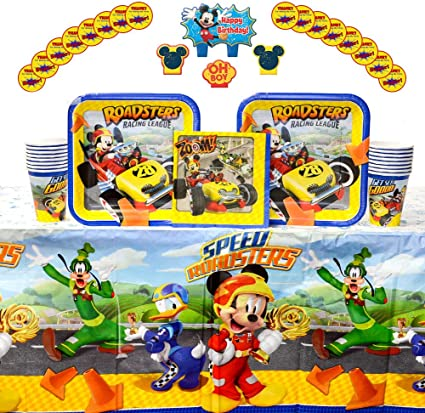 Amazon.com: Disney Mickey Roadster Party Supplies Pack for ...