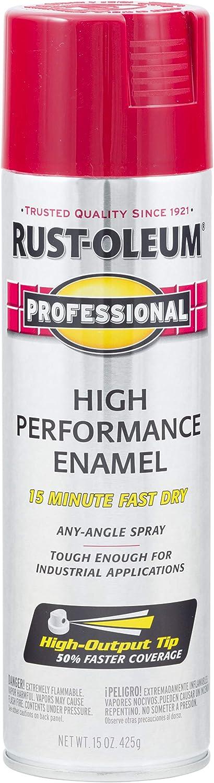 Rust-Oleum 7565838 Professional High Performance Enamel Spray Paint, 15 oz, Regal Red