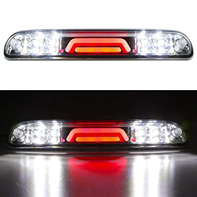 LED 3rd Brake Light Rear Tail Cargo Lamp Waterproof High Mount Brake Light Replacement For Ford Super Duty/Ranger/Mazda B-Series YC3Z13A613BA (Chrome Housing Clear Lens): Automotive
