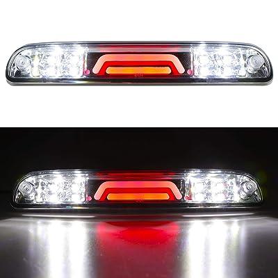 LED 3rd Brake Light Rear Tail Cargo Lamp Waterproof High Mount Brake Light Replacement For Ford Super Duty/Ranger/Mazda B-Series YC3Z13A613BA (Chrome Housing Clear Lens): Automotive [5Bkhe0406476]