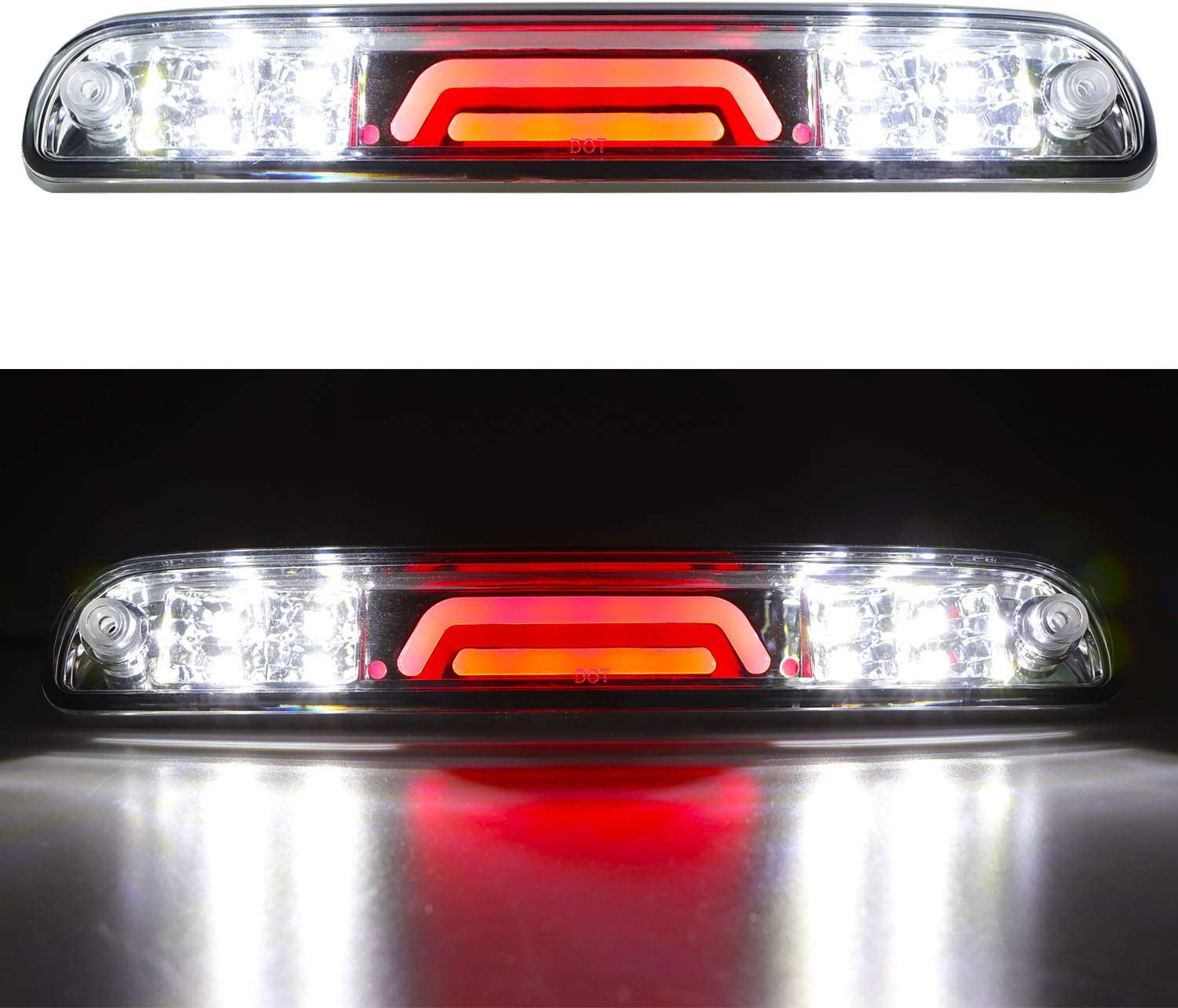F-550 Super Duty 99-16 Mazda B-Series 94-10 F-350 Third 3rd Brake Light Cargo Light High Mount Stop Tail Light Replacement for Ford F-250 F-450
