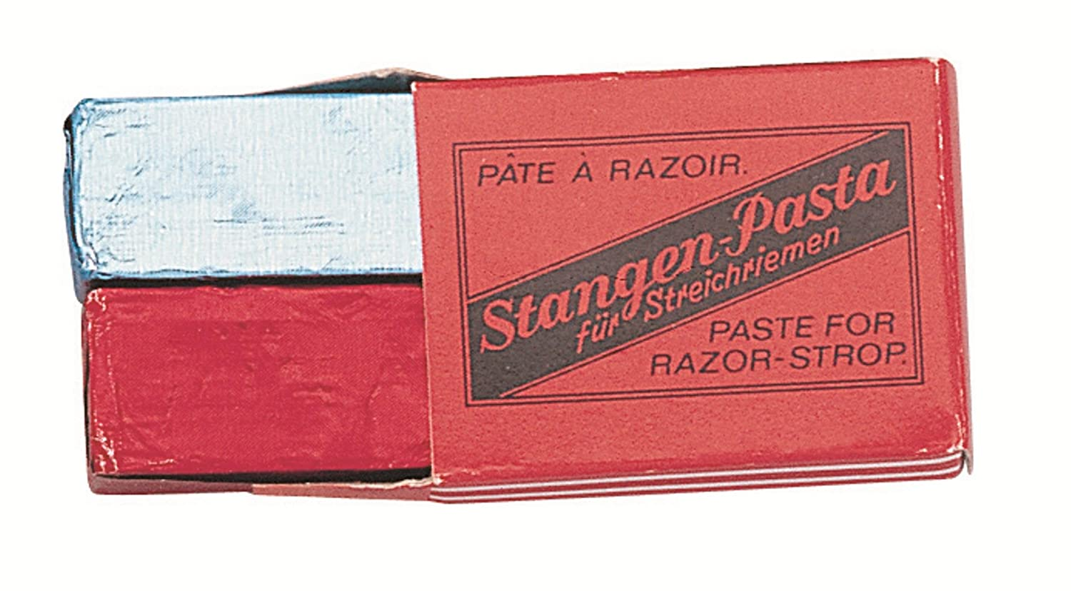 Nc - 9501 - Box with 2 Blocks of Razor Strop Paste - Red for Sharpening and Blue for Polishing by Nc BeautyCentre