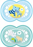 MAM 172311 - Ciuccio in silicone per bambini dai 6 ai 16 mesi, senza BPA, confezione doppia, colori e modelli assortiti