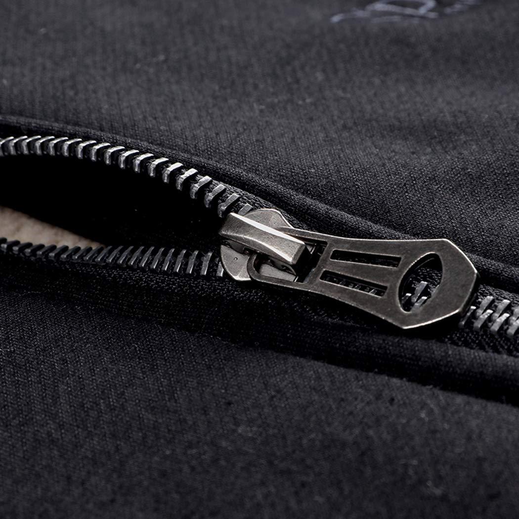 Real Spark Men's Winter Fleece Hoodie Jacket & Jog Pants Set Casual Running Tracksuit Black L by Real Spark (Image #4)